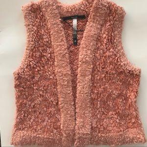 Kensie Pink Fuzzy Vest